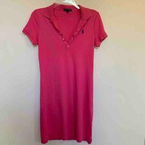 Ralph Lauren Womens Polo Dress Pink Short Sleeve S